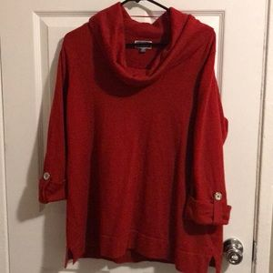 JM Collection Red Sweater